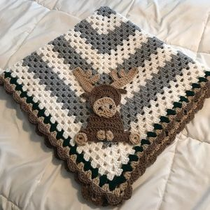Other - Handmade Moose Baby Blanket